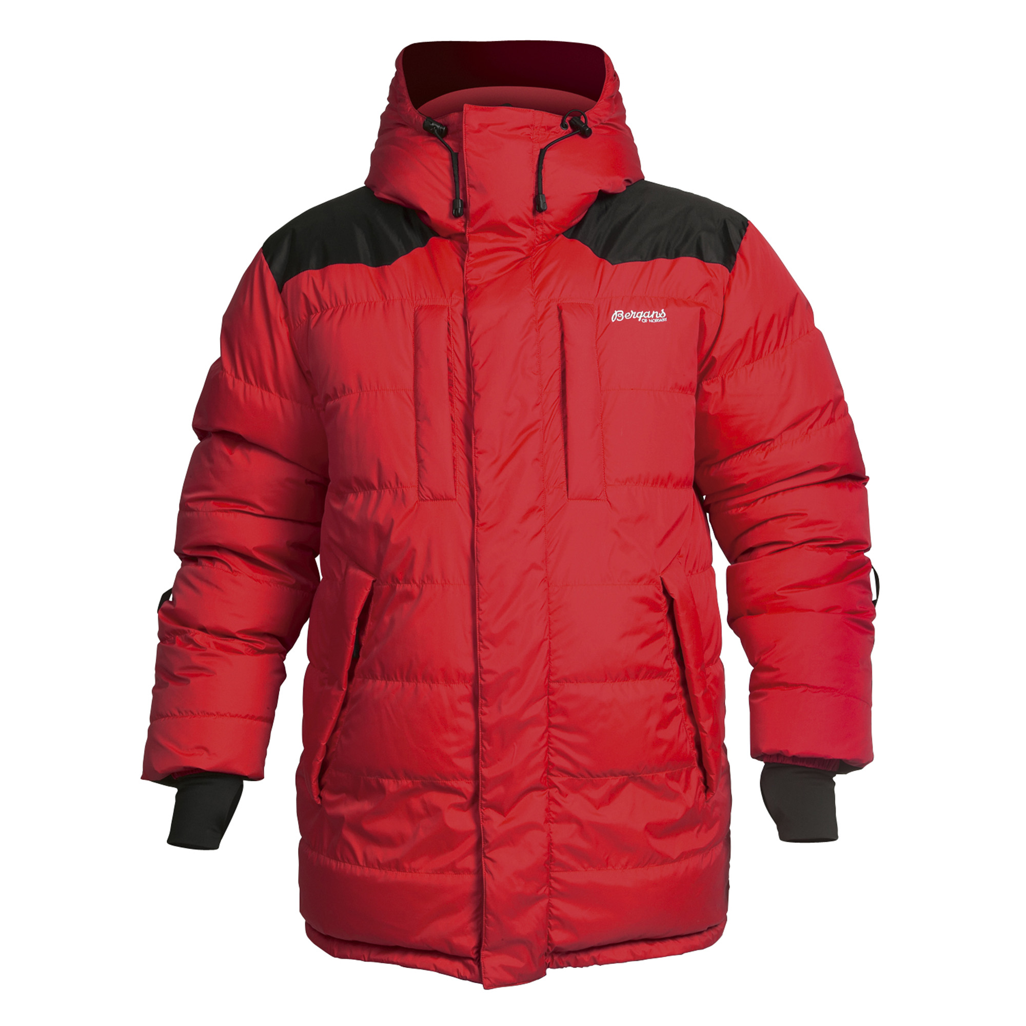 Expedition Down Filled Hooded Parka Mens Red